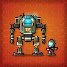 BT-7274 and Jack Cooper Pixel Art. Happy Friday Pilots! http://ift.tt/2gtALWb