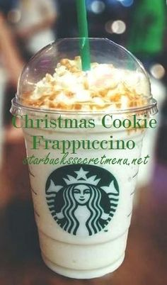 Starbucks Secret Menu: Christmas Cookie Frappuccino Peppermint and toffee nut Bebidas Do Starbucks, Starbucks Secret Menu Drinks, Starbucks Coffee, Starbucks Holiday Drinks, Starbucks Hacks, Slow Cooker Desserts, Starbucks Christmas, Christmas Christmas, Coffee Recipes