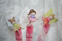 Fairy Princess Party Favor Fairy Mini Bubble Wand by TRIZIART