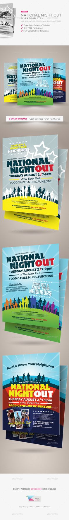 National Night Out Flyer Template PSD. Download here: http://graphicriver.net/item/national-night-out-flyer-templates/15879402?ref=ksioks