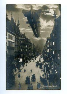 Zepelin über Berlin,ca 1905.