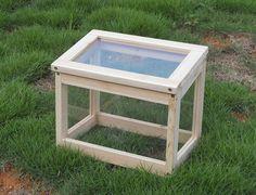 Invernadero de madera de abeto con paneles de polycabornato de PlanetaHuerto.es