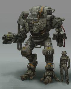 my hawken design: troll military bot.
