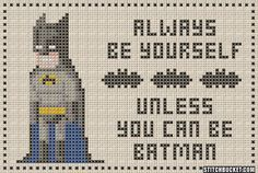 Unless You Can Be Batman Cross Stitch Pattern by StitchBucket, $3.99