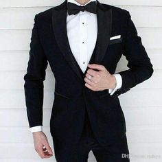 Black Wedding Tuxedos Groom Wear Men Suits for Wedding Man Outfits Costume Homme Groomsmen Blazer Two Piece Slim Fit trajes de hombre Source by alyssapgarner Prom Suits For Men, Best Suits For Men, Cool Suits, Suit For Men, Male Suit, Wedding Suit Styles, Wedding Suits, Wedding Tuxedos, Wedding Poses