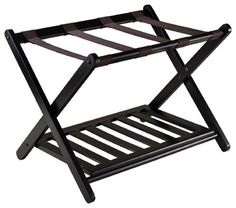 Reese Luggage Rack With Shelf.   Great price with add'l storage