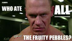 Don't look at us, Cena. #WWE