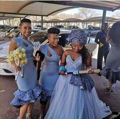 Shweshwe Traditional Dresses Designs 2020 • stylish f9 African Print Wedding Dress, African Bridesmaid Dresses, African Wedding Attire, African Lace Dresses, Latest African Fashion Dresses, African Attire, South African Traditional Dresses, Traditional Dresses Designs, Traditional Wedding Attire