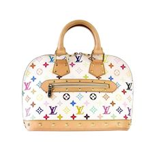 928d1b41fc51b Louis Vuitton Bag White Murakami Alma Beauty Vintage Louis Vuitton