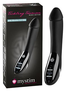 Mystim Tickling Truman e-Stim Vibrator, black Edition, 1 Stück