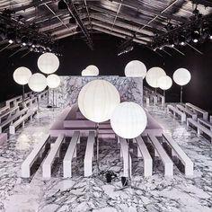 Carven FW16 // Espace Éphémère des Tuileries // Paris The Set @carven_paris #carven #emptyset #Marble