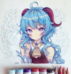 Anime Drawings Sketches, Anime Sketch, Cute Drawings, Anime Girl Cute, Anime Art Girl, Anime Chibi, Kawaii Anime, Manga Drawing Tutorials, Art Jokes