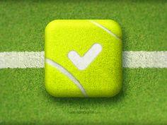'Tennis Score' ios app icon designed by Aditya Chhatrala    www.walk-onu.com for our free App.