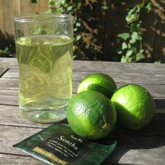 Green Tea Lime Cooler: 1 green tea bag Juice from 1/2 lime 1/2-1 teaspoon agave nectar Handful of ice. You can make this recipe with jasmine tea for a more floral tasting drink. Triple the recipe to make a pitcher.