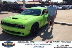 https://flic.kr/p/EPRXw1 | Happy Anniversary to Aaron on your #Dodge #Challenger from David Jones at Huffines Chrysler Jeep Dodge Ram Lewisville! | deliverymaxx.com/DealerReviews.aspx?DealerCode=XMLJ