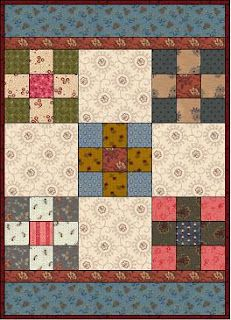 a small quilt pattern from Kathleen Tracy for April