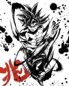 #songoku #goku #dbz Dragon Ball Z, Dragon Z, Manga Tattoo, Anime Tattoos, Manga Dragon, Samurai Art, Fanarts Anime, Son Goku, Fan Art