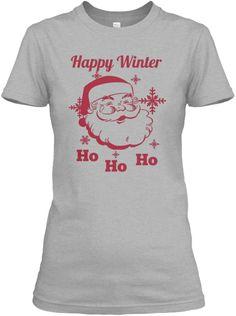 Happy Winter Ho Ho Ho Sport Grey Women's T-Shirt Front