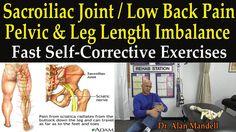 Sacroiliac, Low Back Pain, Pelvic Leg Length Imbalance (The Best Self-He...