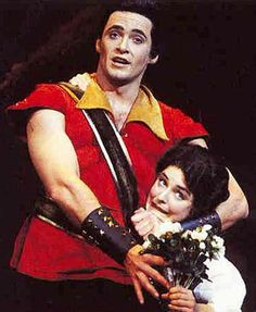 Hugh Jackman as Gaston in the Australian version of the Broadway Beauty and the Beast. This is a thing?!?!