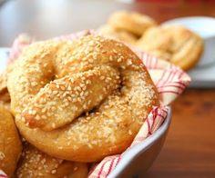 Sesame Seed Pretzels