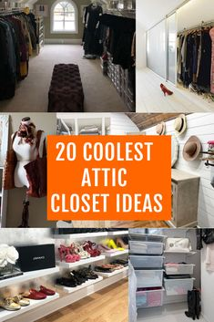 Best attic closet ideas can convert your unfinished attic into a finished closet. Everything in your home will be orrganized and your attic will be a part of your house again. Here's my liist of 20 best attic closet ideas inspired by people who tried. #atticrenovation #atticideas #atticcloset #atticstair #atticladder
