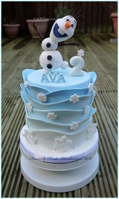 Olaf - Cake by Heavenly Treats by Lulu