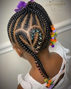 Black Kids Braids Hairstyles, Little Girls Natural Hairstyles, Toddler Braided Hairstyles, Baby Girl Hairstyles, Braids For Black Hair, Toddler Braids, Little Girl Braids, Girls Braids, Kid Braids