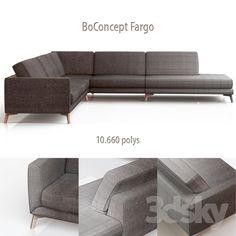 3d models: Sofa - BoConcept Fargo corner