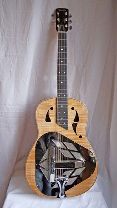 Colin Keefe Luthier - Maker of Quality Guitars & Mandolins -Tricone Resonator - Made in Long Eaton, England Musica Love, Resonator Guitar, Steel Guitar, Guitar Collection, Guitar Tips, Beautiful Guitars, Mandolin, Vintage Guitars, Cool Guitar