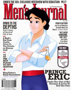 Disney Prince Magazine Covers: Prince Eric. Men's Journal