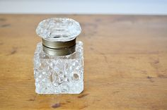 Antique Glass Inkwell
