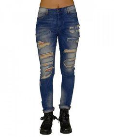 Γυναικείο τζην με σκισίματα Z1920 #γυναικείατζιν #παντελόνια #μόδα #γυναίκα #ψηλόμεσατζιν #womensjeans #fashion #style