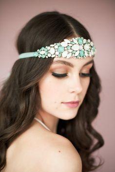 crystal headband | Bridal Headband With Veil via http://emmalinebride.com/bride/bridal-headband-with-veil/
