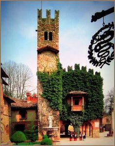 The Clock Tower in Grazzano Visconti ~ Piacenza, Italy