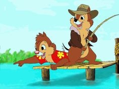chip and dale fishing