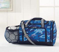 Mackenzie Navy Skateboard Camo Sports Duffle Bag #pbkids