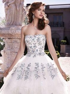 Casablanca Bridal : Fall 2013 - Style 2139. Shown in Sapphire Blue/Silver