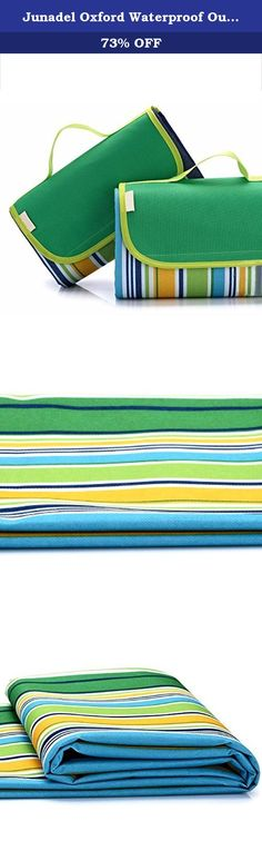 Junadel Oxford Waterproof Outdoor Picnic Blanket Camping Mat 57″ x 70″ with Handle and Soft Padding (Green Stripes). Features: 1: collapsible for easy storage, portable and easy to carry. 2: 100% waterproof, fresh fabrics, easy care. 3: No off-line, can not ball. Product Tips: 1: Waterproof Oxford: Oxford waterproof cloth is a versatile and widely used new fabrics, with easy to clean, waterproof performance is good, soft, new style and so on. 2: Since the bottom of the picnic blanket with...