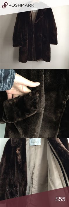 Shaved mink coat Shaved mink coat with two large pockets and hook closure . Lining and exterior is in great condition except a rip in shoulder. The fur is so soft it feels like chinchilla ! vintage Jackets & Coats