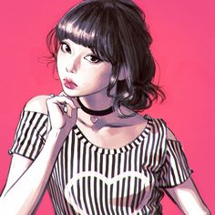 Stripes https://www.patreon.com/creation?hid=2741923Cool-down study from photo in Japanese magazine!