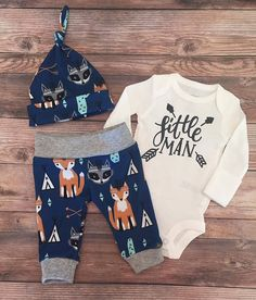 a99b9e603 Southwest Little Man Coming Home Outfit, Going Home Outfit, Cactus, fox,  tee pee, arrow, raccoon,READY TO SHIP, baby boy