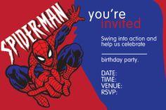 Free printable invites Free Party Invitations, Printable Invitations, Invites, 6th Birthday Parties, Birthday Celebration, Birthday Ideas, Spiderman Birthday Invitations, Party Themes, Party Ideas