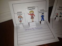 Education to the Core: Community Helpers Writing Activity.  $