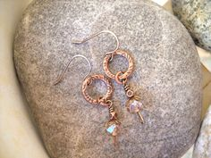 Boho Style Antique Copper and Light Topaz Wire Wrapped Dangle Earrings by Beads4You2008 on Etsy https://www.etsy.com/listing/270133544/boho-style-antique-copper-and-light