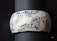 Recycled music sheet bracelet! LOVE IT