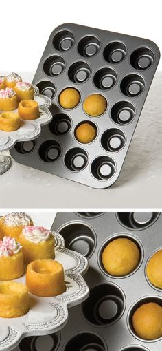 Tea cake pan // creates a little recess to fill with cream, icing, fruit etc. #product_design