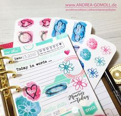 Creative Creations by Andrea Gomoll   Planner Eyecandy � sharing some current Planner Pages and new Planner Stickers   http://andrea-gomoll.de