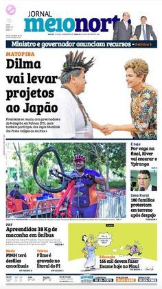 Capa do jornal de sábado (24/10)
