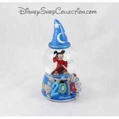 Snow globe Mickey DISNEYLAND PARIS Fantasia l'apprentie sorcier 2014 boule à neige 16 cm
